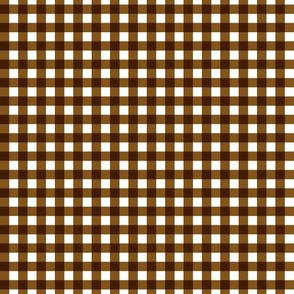 Small Brown Gingham