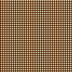 Tiny Brown Gingham