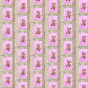 Baby Teddy  bear quilt blocks