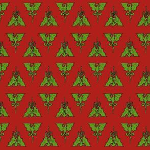 dragon tile mandala red