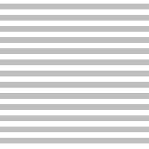 White & Grey Boho Nautical Stripe
