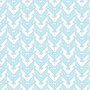 pythagorean chevron blue