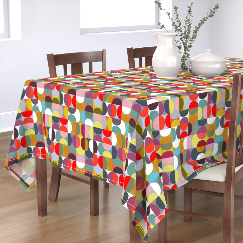 Bantam Rectangular Tablecloth featuring slices - fruit punch by kurtcyr