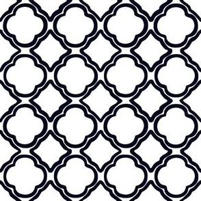 Black and White Ogee Trellis