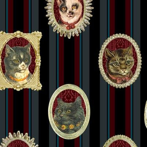 cats, in frames.