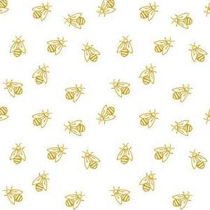 buzz - bumble bee fabric