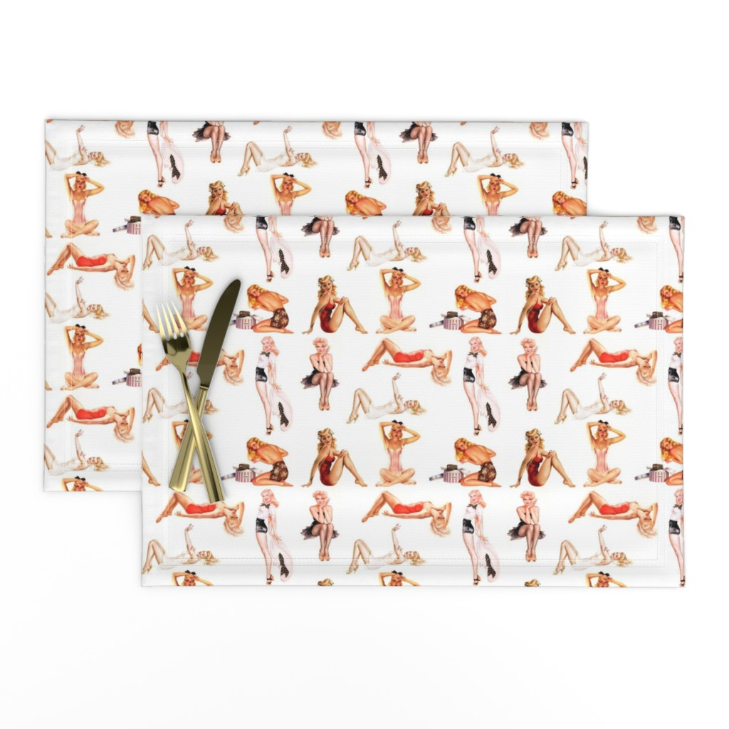 Lamona Cloth Placemats featuring Blonde pin-ups by miss_motley