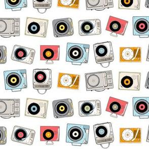 Hi-Fi (White) || vintage retro stereo record player records dj vinyl analog music 60s 70s 80s