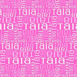 Personalised Name Fabric - Purple/Pink 12