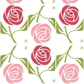 roses in red & pink