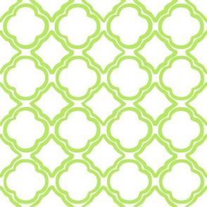 Green Ogee Trellis