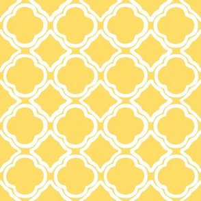 Hot Yellow Quatrefoil