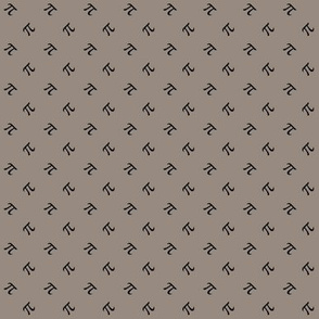 tiny pi diamonds - charcoal on warm grey