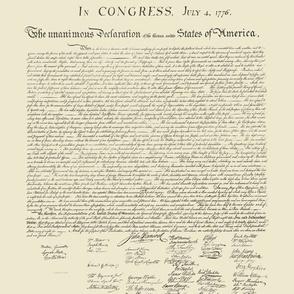 "10.5""x12"" (12/yard) declaration of independence"