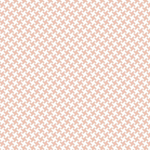 Peach Houndstooth
