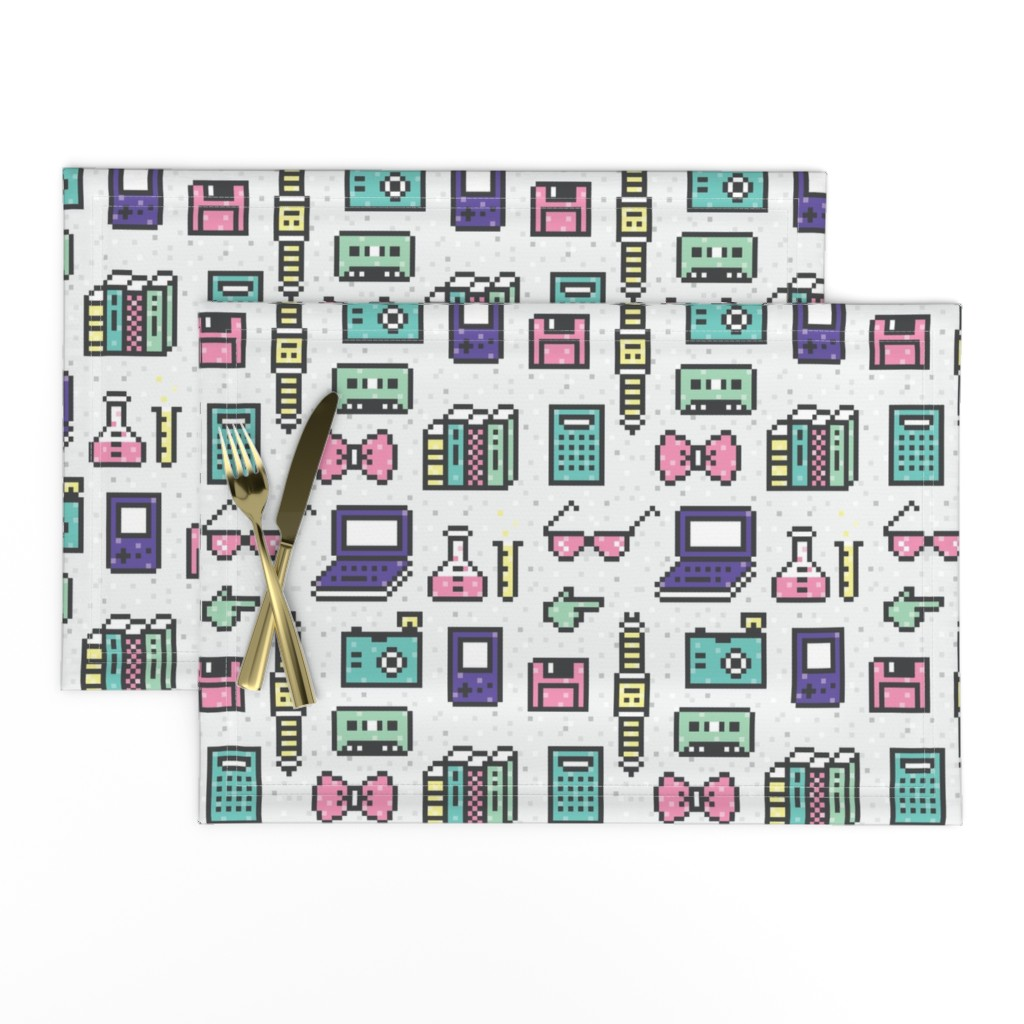 Lamona Cloth Placemats featuring PixelGeekIcons by ariel_kinsler