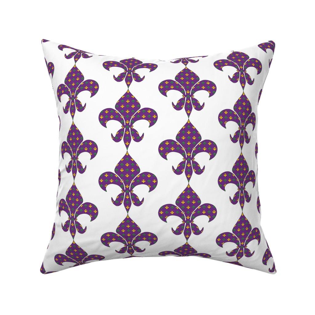 Catalan Throw Pillow featuring Fleur De Lis in Fleur De Lis by careyruhl