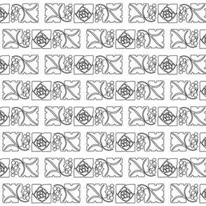 Type Ornaments-1 leaf-mckintosh-rose outlines