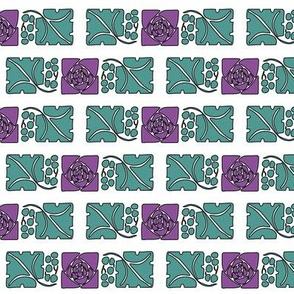 Type-ornaments-1 leaf mckintosh-rose-290violet  180minagreen