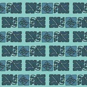 Type-ornaments-1 leaf mckintosh-rose-195-blue background175minagreen