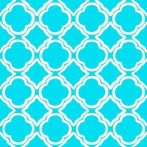 Ogee Trellis Turquoise Blue