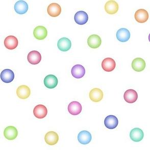 rainbow balloon dots
