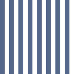 Slate Blue and White Nautical Stripes