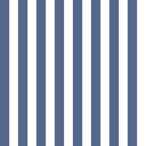 Slate Blue and White Nautical Stripes