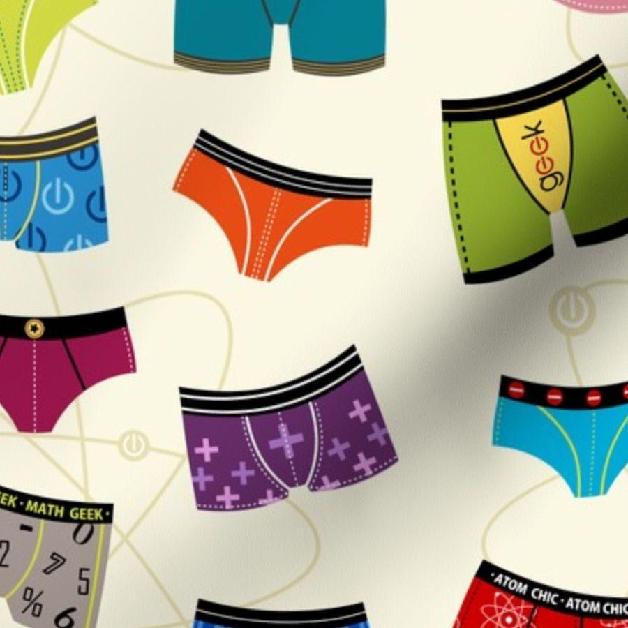 16f11c6a9e43 Atomic Wedgie = (Science Geek Underwear) - Spoonflower