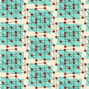 Cubic crystal atom structure
