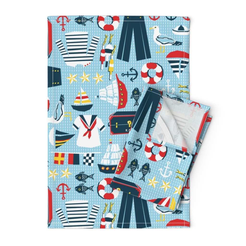 Orpington Tea Towels featuring Mariner's Melody by sammyk