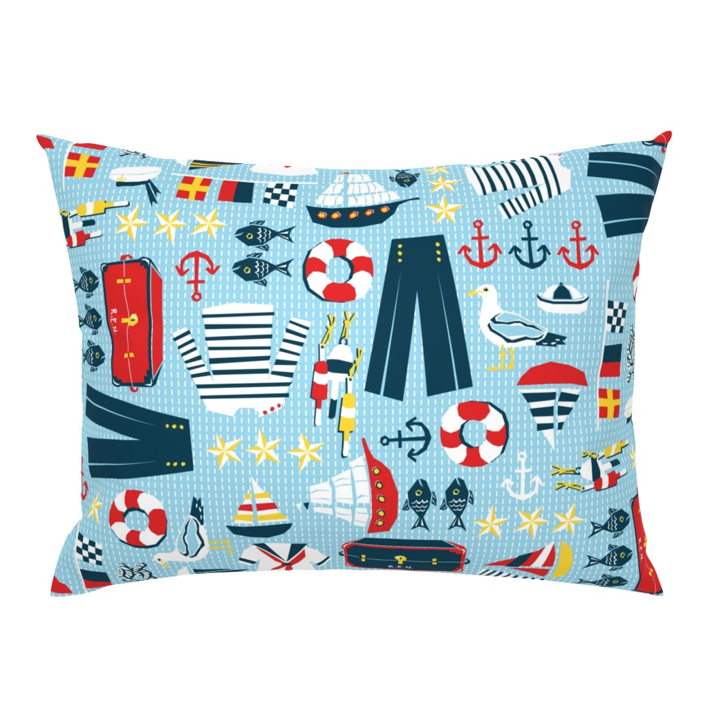 Campine Pillow Sham featuring Mariner's Melody by sammyk