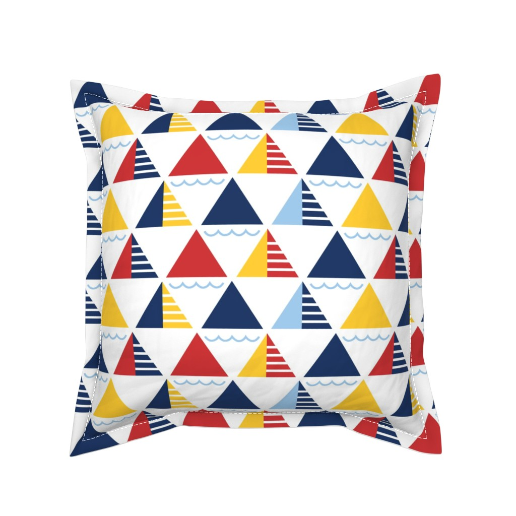Serama Throw Pillow featuring GeometricSails by ariel_kinsler