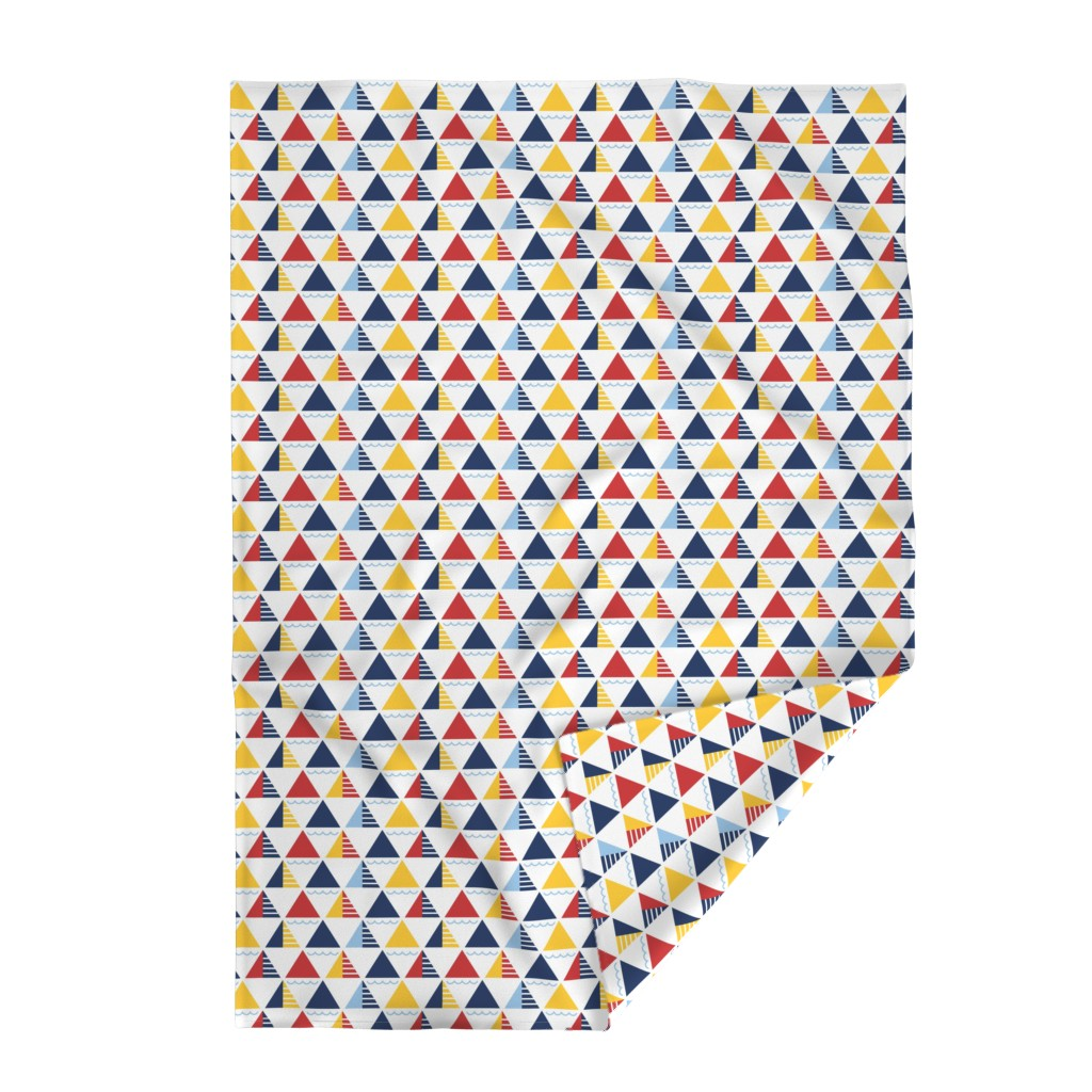 Lakenvelder Throw Blanket featuring GeometricSails by ariel_kinsler