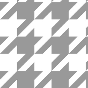 Modern Cottage ~ The Houndstooth Check ~ Grey and White ~ Medium