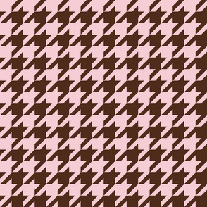 The Houndstooth Check ~ Pink & Brown