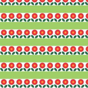 Bunny Flower Stripe - Green