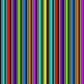 Bold Bright Stripes on Black and Gray