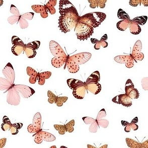 Butterfly Rose Gold, Large