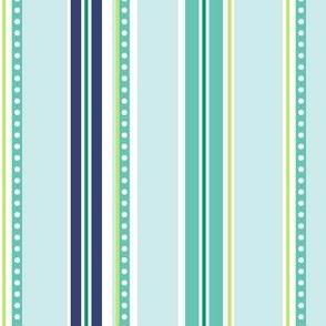 Polka Stripe light blue