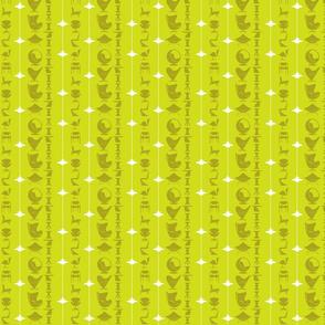 scandi-stripe - chartreuse