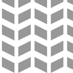 Modern Cottage ~ Herringbone Grey & White