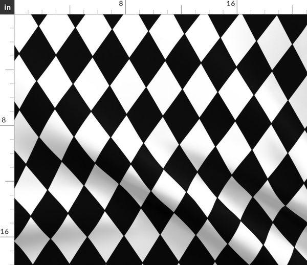 Fabric By The Yard Harlequin Diamonds Black White