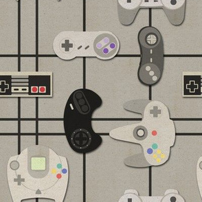 Video Game Geek - Paper Cut-Out Controllers