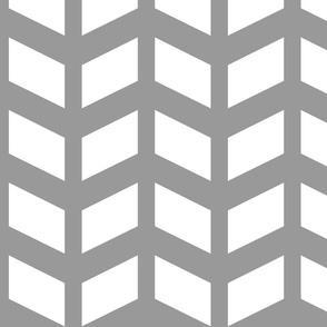 Modern Cottage ~ Herringbone White & Grey