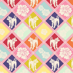 Blossoms and blossoms cheater quilt (multicolor)