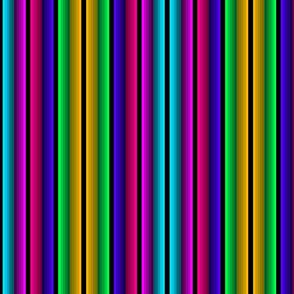 Colorful Fade In-Fade Out Bright Stripe