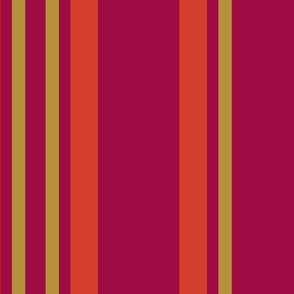Fire Stripe (from the Poppy Ribbons Collection - gray)