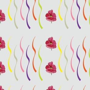 Confetti Ribbons (from the Poppy Ribbons Collection - gray)