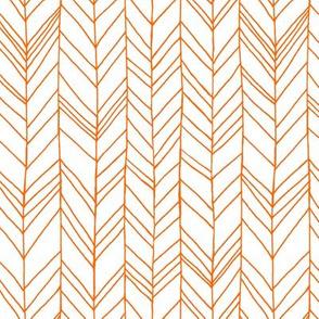 featherland white with orange
